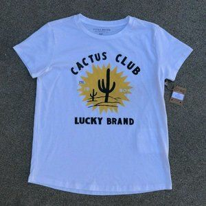Lucky Brand Cactus Club 1990 Graphic T Shirt New